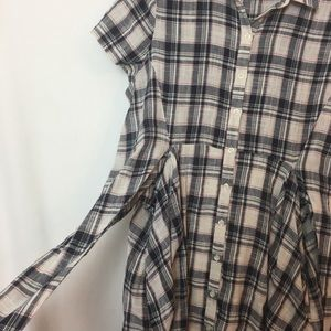 Anthropologie Dresses - Anthropology 11-1-Tylho plaid tie waist dress